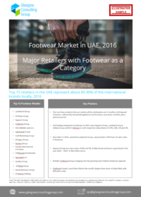 4 Footwear Market in UAE, 2016 Major Footwear Retailer as a Category