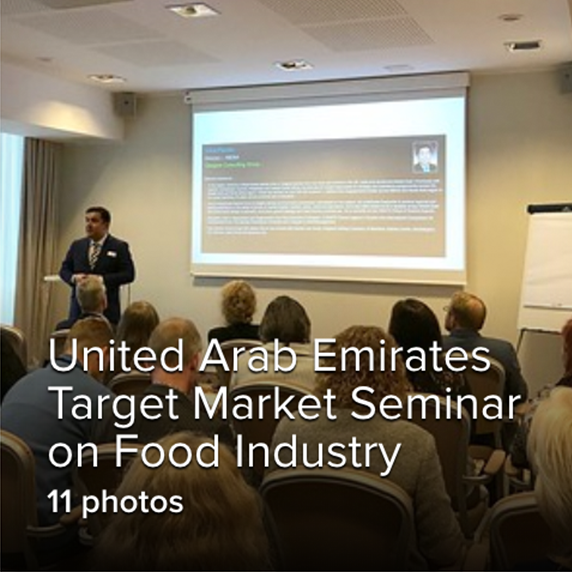 UAE F&B Industry Opportunities Seminar and Market Entry B2B meeting in Tallinn Estonia, Sept 201911 photos